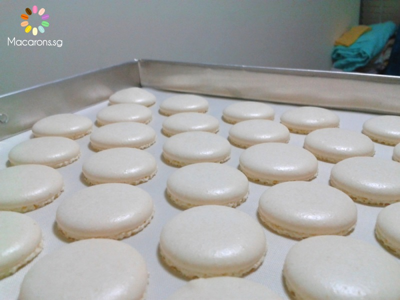 Singapore Macarons - Italian Meringue Method