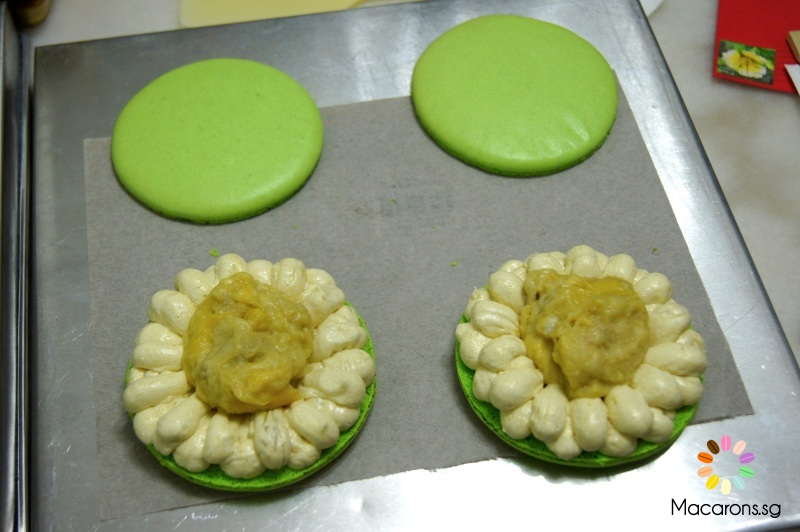 giant durian macarons in Singapore