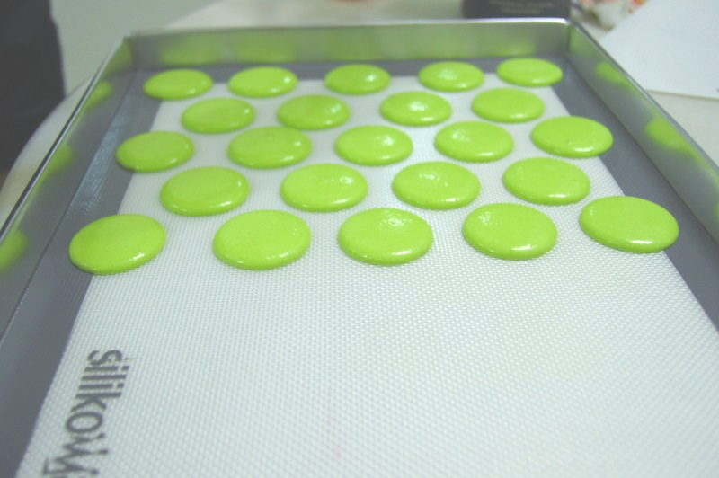 Vodka lime macarons in Singapore