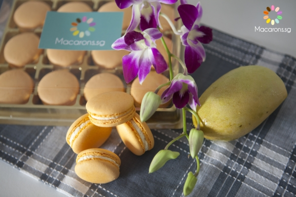 Asian Honey Mango Macarons In Singapore