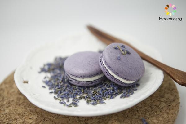 English Lavender Macarons In Singapore