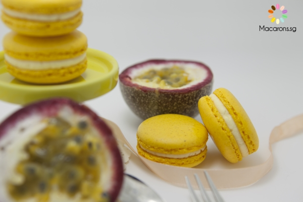 Australian Passion fruit Macarons In Singapore