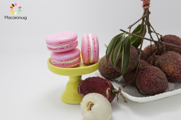 Chinese Lychee Macarons In Singapore