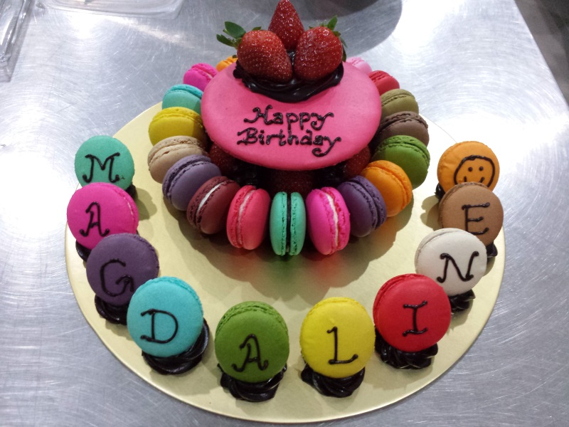 Giant Macaron Cake In Singapore Customization Combi