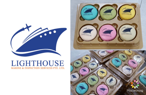 Lighthouse Marine Printed Macarons In Singapore